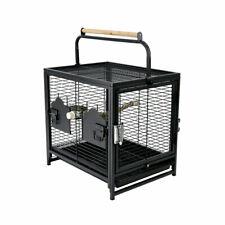 Portable Bird Cage Pet Travel Carrier Perch Feeder Parrot Parakeet Conure Amazon