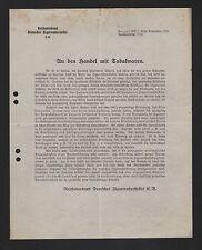 BERLIN, Brief 1925, Reichsverband Deutscher Zigarren-Hersteller e. V.