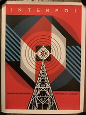 INTERPOL POSTER PRINT SHEPARD FAIREY OBEY GIANT MSG NYC 2019 LMTD MARAUDER