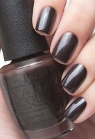 New OPI Gwen ~LOVE IS HOT AND COAL~ Gray Brown Shimmer Nail Polish Lacquer F06