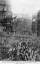 Royal Visit King Edward VII Newcastle on Tyne  1906  pc used Valentines