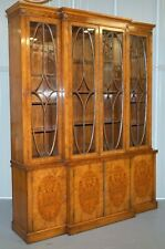 Astral Glazed Vintage Brakefront Library Bookcase With Stunning Details And Keys