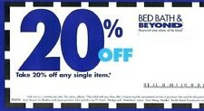 EMAILED! BED BATH & BEYOND 20% OFF ONE SINGLE ITEM COUPON CODE