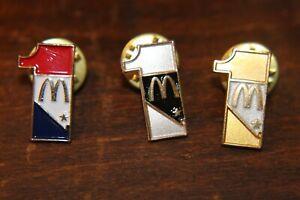 MCDONALDS LAS VEGAS PINS #1 3 DIFF PINS RWB, GOLD , SILVER