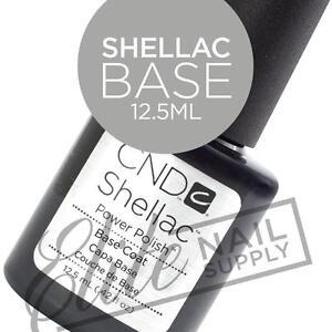 CND SHELLAC Base Coat 12.5ml - Large Size + FREE Remover Wraps 10ct