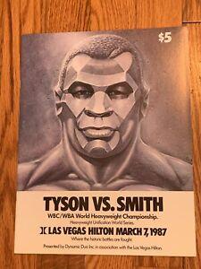 "1987 MIKE TYSON vs JAMES ""BONECRUSHER"" SMITH Original On-site Boxing PROGRAM"