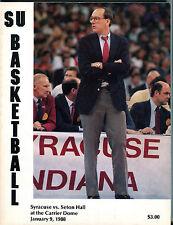 SU Basketball Program Syracuse vs. Seton Hall January 9, 1988 EX 010416jhe