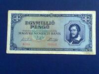 HUNGARY 1 MILLION PENGO 1945 - VERY FINE(3)