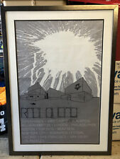 "Radiohead ""In Rainbows� framed tour poster"
