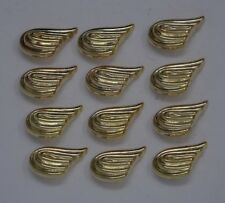 Vintage Gold Button Winged Swoosh  28mm Lot of 100 B62-6