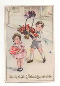 Alte AK Postkarte Hannes Petersen Kinder...Geburtstag