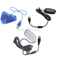 White/Black PC Wireless USB 2.0 Gaming Receiver-Controller Adapter for Xbox 360