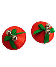 Red Christmas Jingle Bell Nipple Cover Pasties Tassels Sequin Reusable UK STOCK