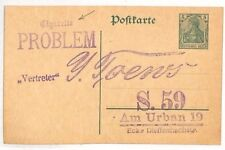 Bg80 Germany Stationery Card 1900s Cigarettes Advert Handstamp Dieffenbachstraße