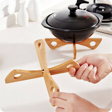 Hot Bamboo Pan Mats Holder Removable Home Kitchen Cooking Tool Bowl Cup Coasters