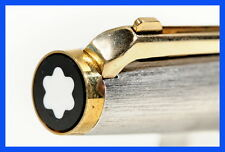 1972 MONTBLANC Brushed  Silver & Gold lever ball point pen