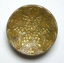 Bouton ancien - Cuivre doré - 26 mm - 1900 - Art Nouveau gilt copper Button