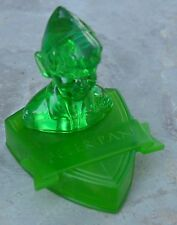 Buste en plastique vert translucide de Peter Pan, Walt Disney