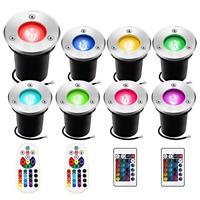 Landscape Lights New Sunriver 3W Color Changing Led Well Lights 16 Colors 8 Pack