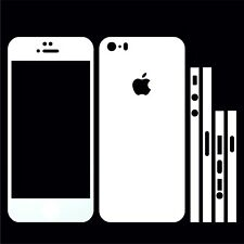 22 FAR. IPHONE 5S FOLIE WEISS MATT ( COVER HÜLLE SKIN SCHALE CASE SKIN BUMPER )