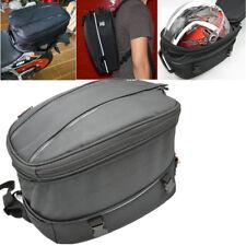 Black 12-22L Motorcycle Luggage Bag Helmet Pack Hand Shoulder Box Case w/ Cover