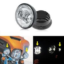 """US Motorcycle 4.5"""" LED Auxiliary Passing Spot Fog Light Lamp For Harley Davidson"""