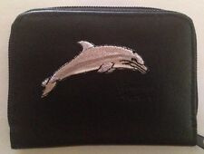 Dolphin Design Leather Wallet Credit Card ID Holder Dolphins FREE SHIPPING
