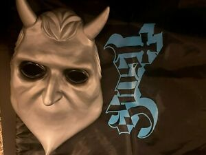 Nameless Ghouls Mask Ghost Rock Band Latex Halloween Cosplay with Ghost Bag