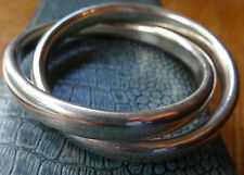 Silver Bangle Vintage Costume Jewellery (1980s)