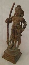 """VINTAGE SOLID COPPER """"SOUTH INDIAN GOD & GODDESS"""" STATUE RELIGIOUS STATUE 01"""