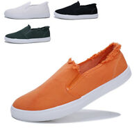 Men Flat Slip on Loafers Canvas Shoes Comfortable Casual Lazy Driving Moccasins