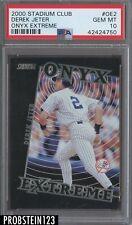 2000 Topps Stadium Club Onyx Extreme Derek Jeter Yankees PSA 10 GEM MINT