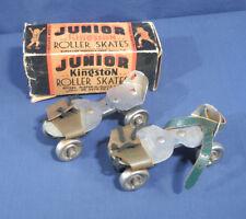 Vtg Kingston Junior Roller Skates w/ Box Keyless Model Ball Bearing Kokomo Ind.