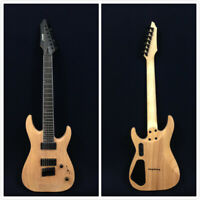 Haze E007NOIL Solid Body 7-String Electric Guitar - Natural Oil + Free Gig Bag