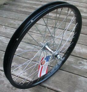"Sta-Tru Wheel 20"" Front BMX Steel Black 1.75 Bolt On"