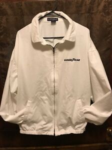 GOODYEAR TIRES ~ Vintage ~ Men's XL ~ Swingster US MADE Cotton Full Zip Jacket