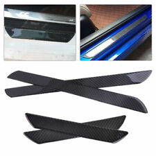 4x Car Carbon Fiber Anti Scratch Door Step Sill Scuff Plates Protect Guard Cover