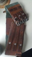 Vintage German climbing belt(Buchen-Staad) -Great craftsmanship-Leather/Wov en