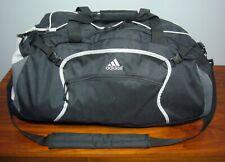 "ADIDAS Duffle Gym Travel Bag Vintage LARGE Black Sports Tennis 29"""