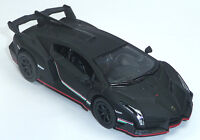 Lamborghini Veneno schwarz matt ca. 1:36 Sammlermodell 12,5cm Neuware v KINSMART