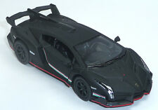 Lamborghini Veneno negro mate aprox. 1:36 modelo de coleccionista de mercancía nueva 12,5cm V Kinsmart