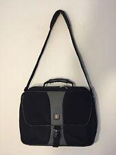Swissgear Wenger travel briefcase carry on bag over the shoulder nice GUC black
