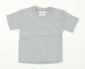 nEW Hanes Playwear Baby Infant Short-Sleeve T-Shirt Sports Grey 24 Months