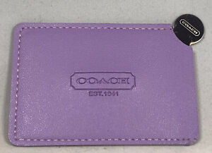 Authentic Coach Stainless Steel Unbreakable Pocket Mirror Purple Faux Leather