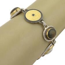 Gurhan GALAPAGOS 24k Gold & Sterling Silver Multi-Color Gems Bracelet