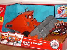 Disney Pixar Cars Chase & Change Frank with Lightning McQueen Color Changer Set!