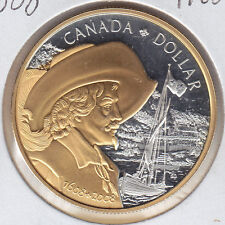 2008 Gold Plated Proof Silver Dollar From Royal Canadian Mint Set - Quebec