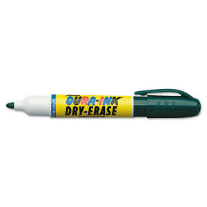 Dura-Ink Dry Erase Markers, Green, 1/8 In, Felt