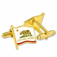 Republic Cufflink Set State of California Flag