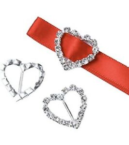 Pair Trainer Shoe Lace Ribbon Charms Crystal Hearts Pair Craft & Card Decoration